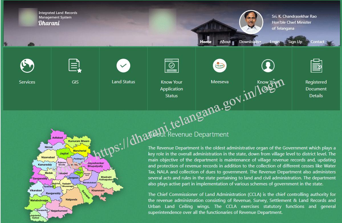 dharani.telangana.gov.in