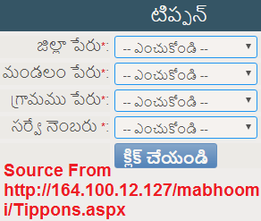 Telangana MaBhoomi Tippan Details