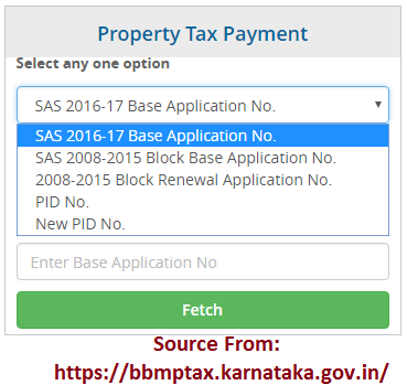BBMP Property Tax Payment