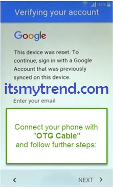 FRP bypass lock with FRP bypass App with OTG cable 2