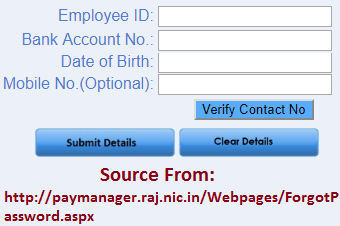 Reset Paymanager Password