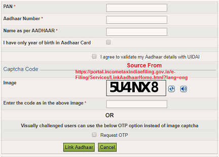 Aadhaar Card Number to Pan Card Number