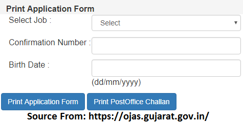 Ojas Gujarat Print Online Application