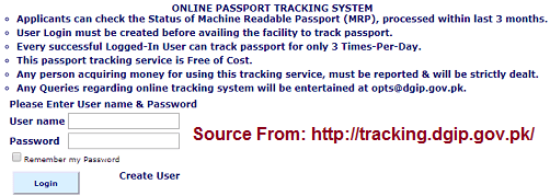 Pakistan Passport Application Status
