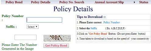 tsgli policy bond details