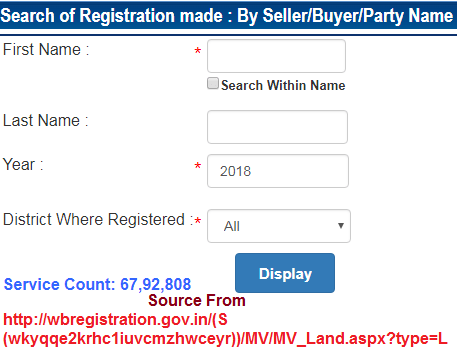 wbregistration Search of Registration made By Buyer