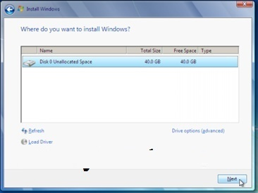 windows 7 hard disk partitions