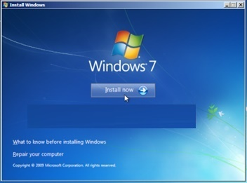 windows 7 install