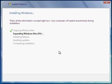 windows 7 os installing