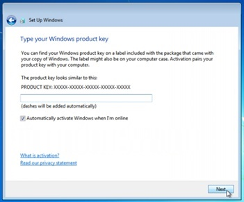 windows 7 product key activation