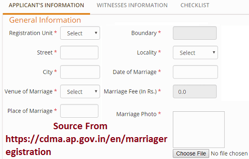 AP Marriage Certificate Registration