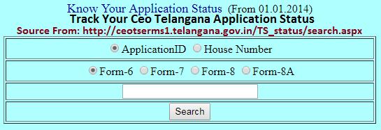 Ceo Telangana Voter Card Application Status