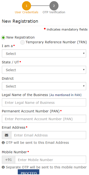 GST Login Registration