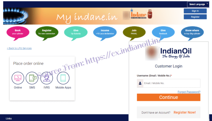 Indane Gas Booking
