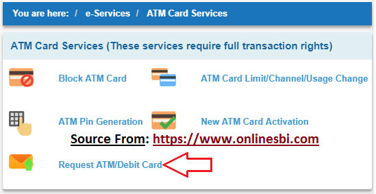 SBI New ATM Card