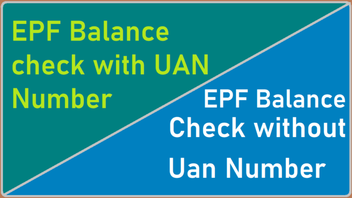 PF balance check without uan number
