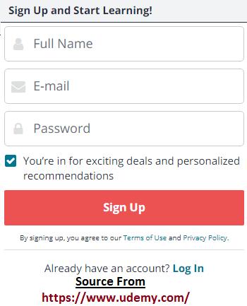 udemy online registration