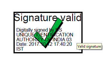 Aadhaar Signature Validation