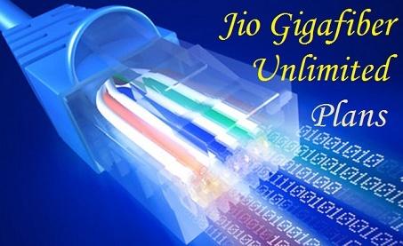 JIO GIGAFIBER Net Unlimited Plans