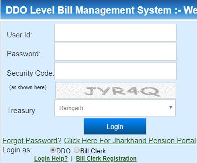Jharkhand DDO Level Bill Entry at jkuber.gov.in
