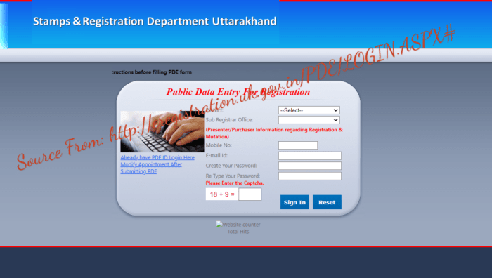 eregistration.uk.gov.in