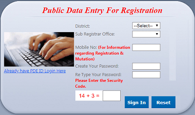uttarakhand public data entry registration at eregistration.uk.gov.in
