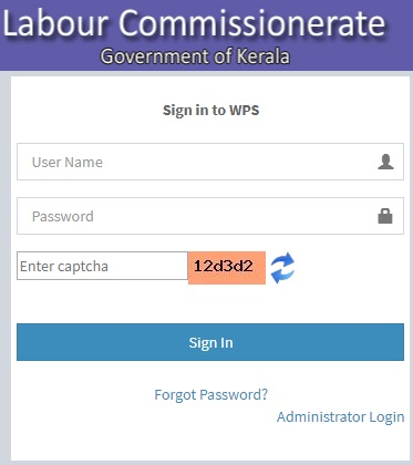 wps.lc.kerala.gov.in login
