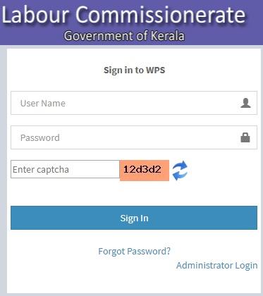 wps.lc.kerala.gov.in login