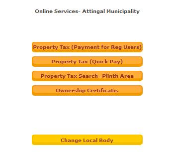 Sanchaya Online Services Portal tax.lsgkerala.gov.in