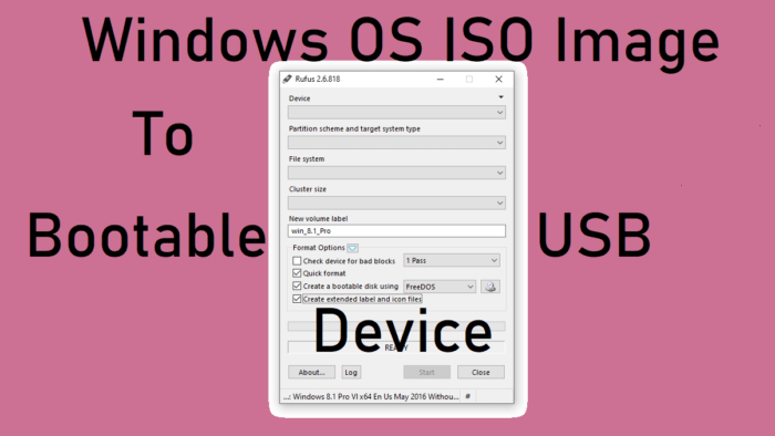 ISO to USB using Rufus
