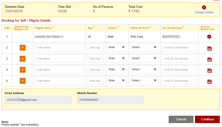 TTD Special Darshan Tickets Booking