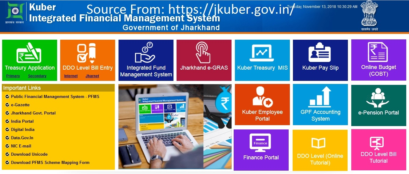 Services Available in Jharkhand Kuber website jkuber gov in/emp/