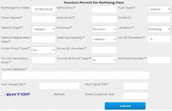 Rohtang Pass Permit