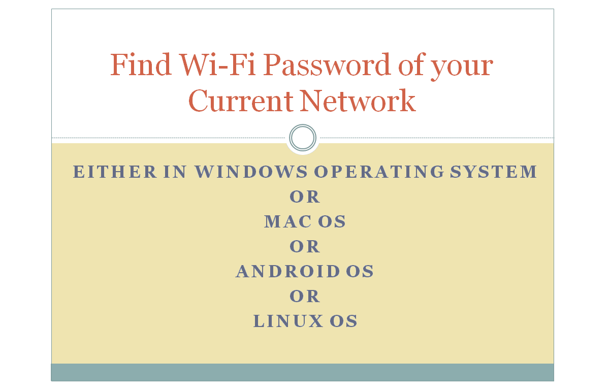 Find Wifi Password