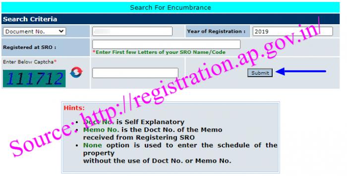 AP Encumbrance Certificate